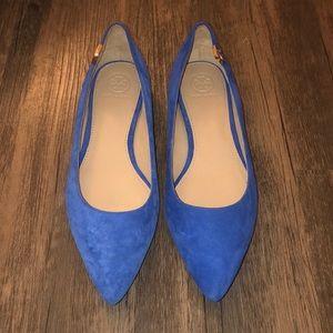 Tory Burch Cobalt Blue Elizabeth Flats SZ 7.5 NWOT